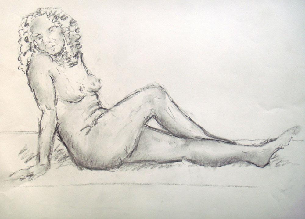 Akt weiblich, sitzend
