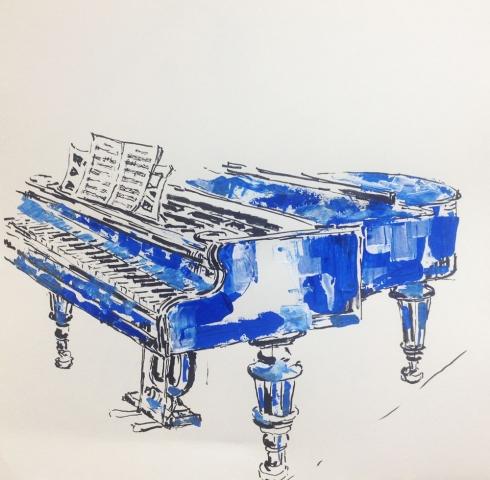 blaues klavier