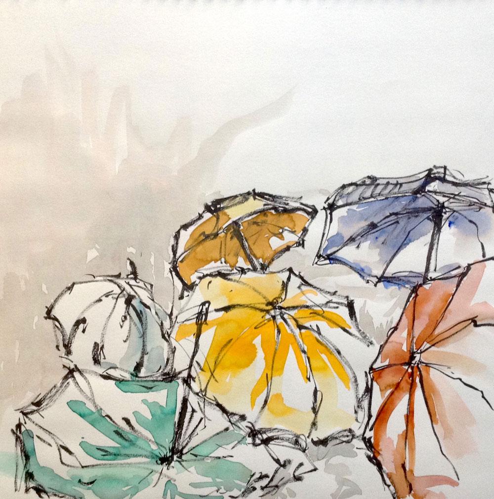 Regenschirme, bunt