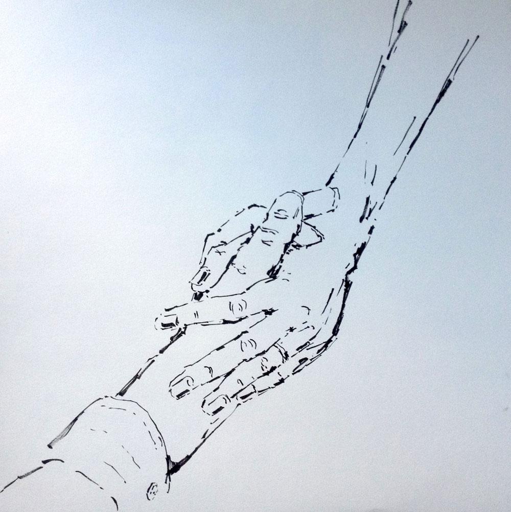 zwei Hände handstudie