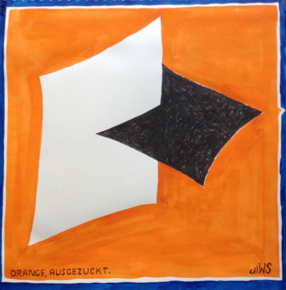 Tusche und Aquarell auf Papier, 40x40 cm, 2014