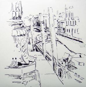 Venedig Laterne mit Booten