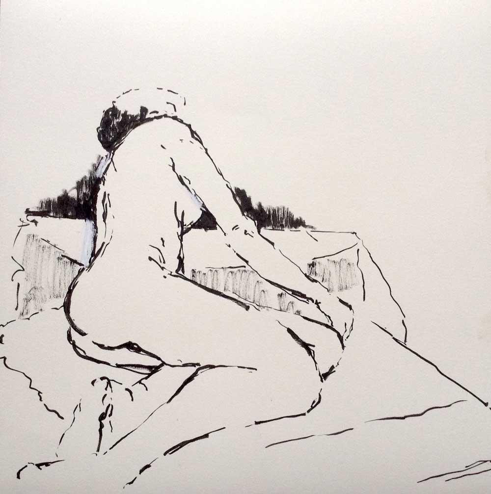 Tusche auf Papier, 40x40cm, 2015