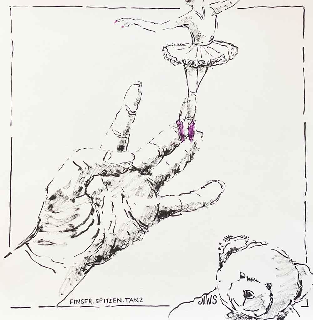 fingerspitzen spitzentanz
