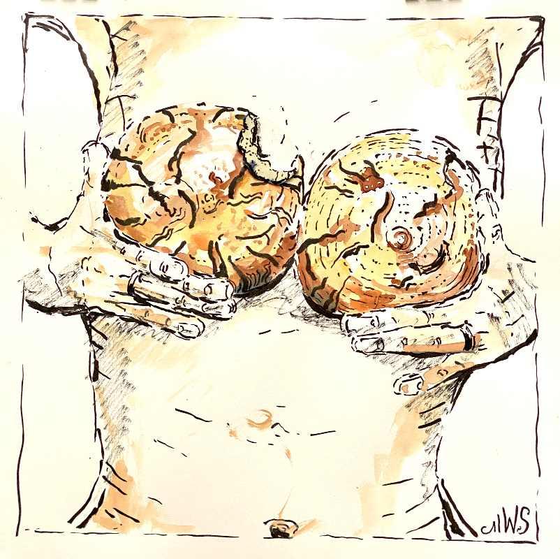 Brot des Lebens angeknabbert